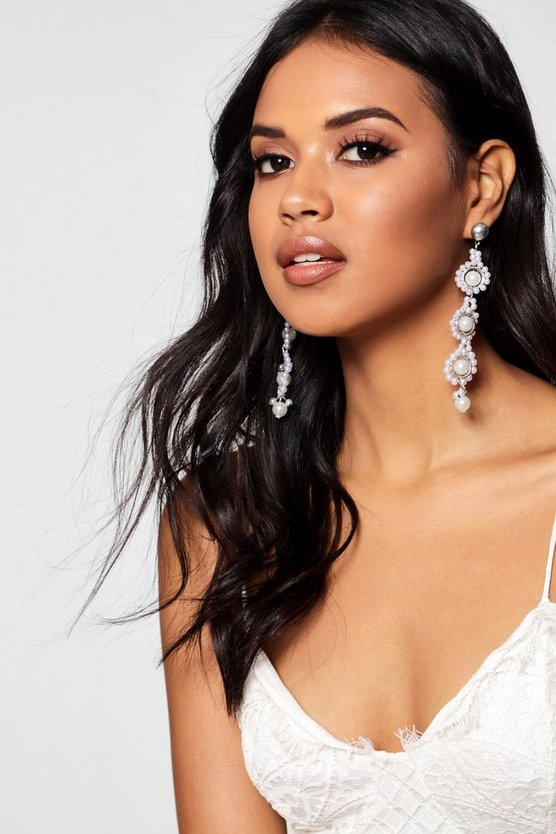Lily Statement Tiered Pearl Earrings