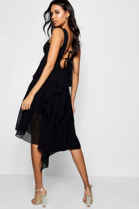 Boutique Asymmetric Tier Dress