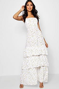 Shop 1960s Style Dresses in the UK Boutique Paula Ditsy Drop Hem Maxi Dress  $60.00 AT