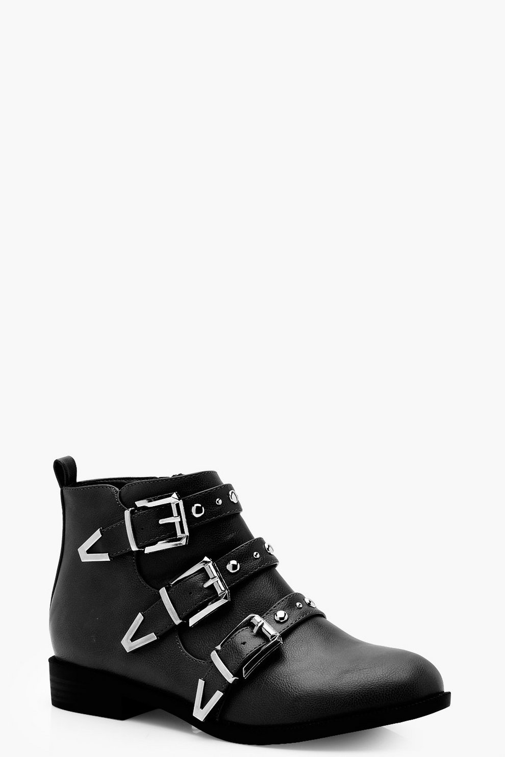 b94f2a0d913c Studded Strap Chelsea Ankle Boots