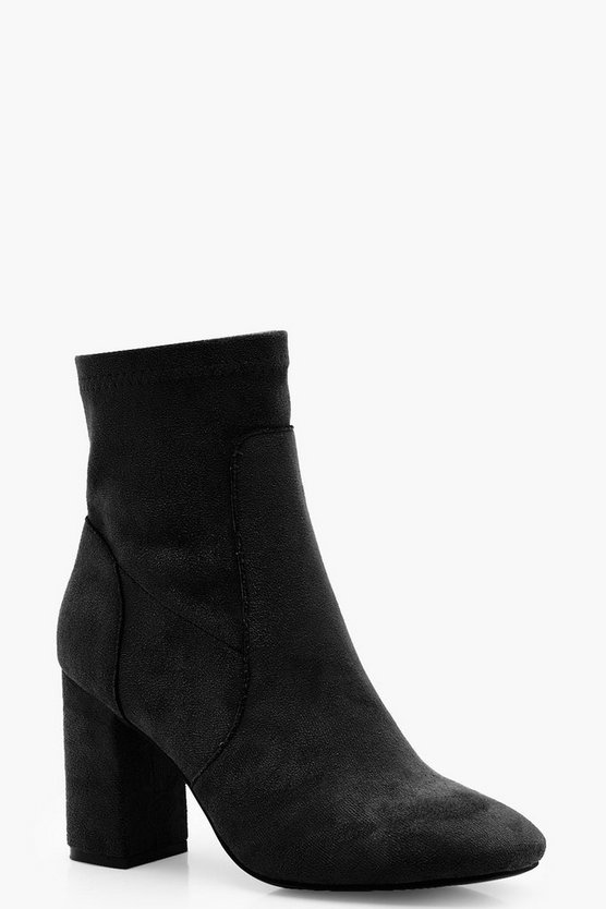 Womens Square Toe Sock Boots