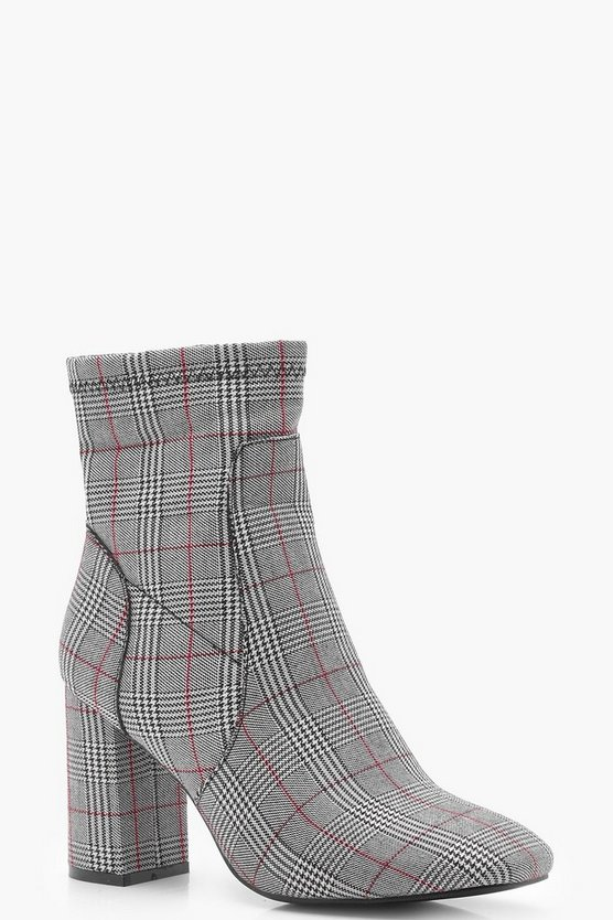 Checked Sock Boot