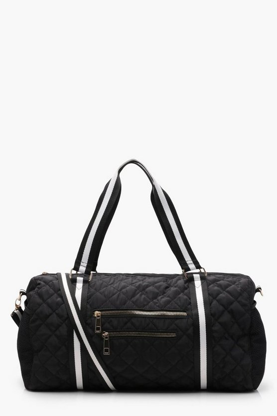 Hannah Quilted Webbing Strap Gym Holdall
