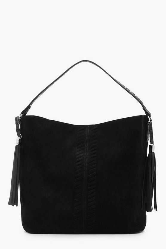 Amy Whip Stitch & Tassel Shoulder Bag