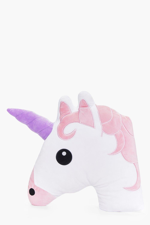 Unicorn Emoji Cushion | Boohoo