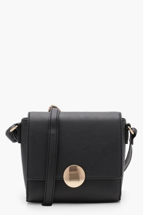 Lucy Circle Hardware Cross Body Bag