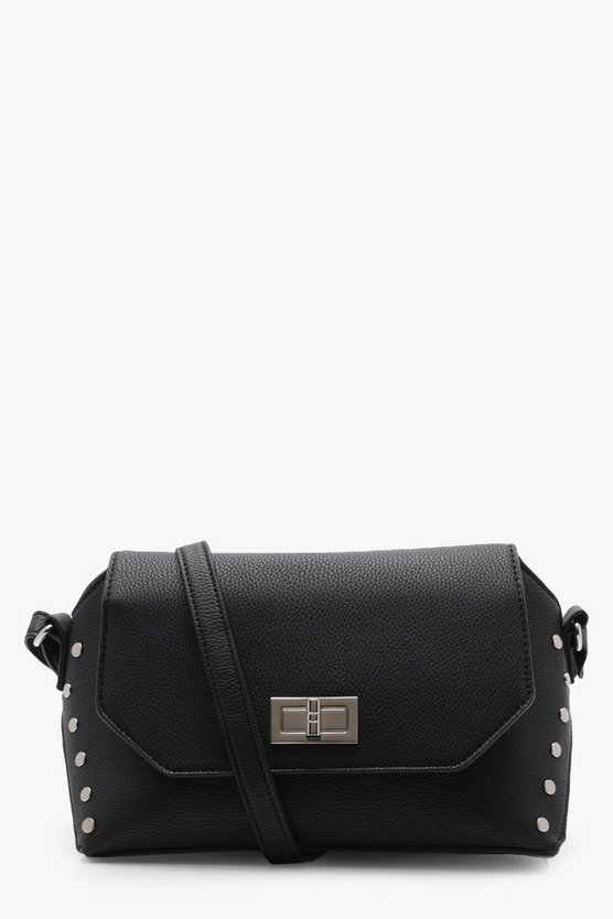 Erin Flat Stud & Lock Cross Body Bag