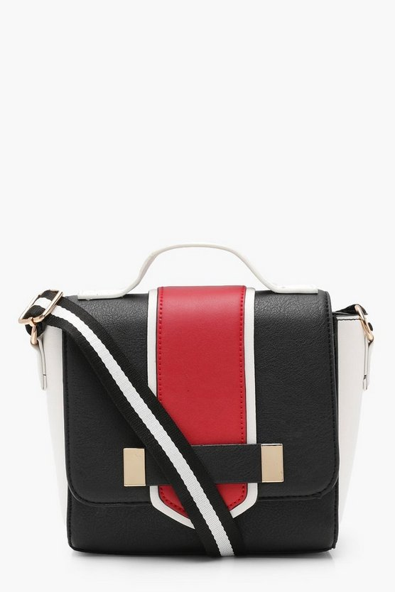 Colour Block Cross Body Bag