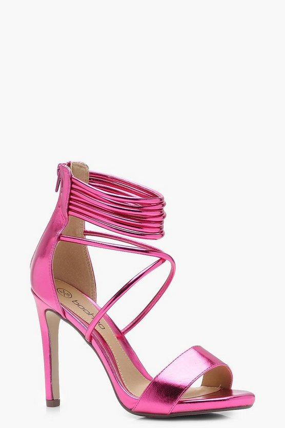 Willow Wrap Strap Cage Heels