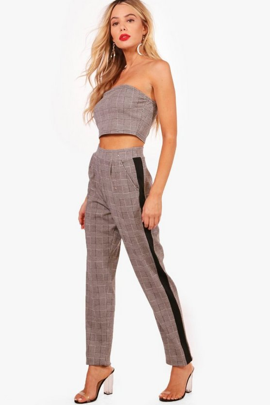 Skinny Crop Trouser and Bandeau Set