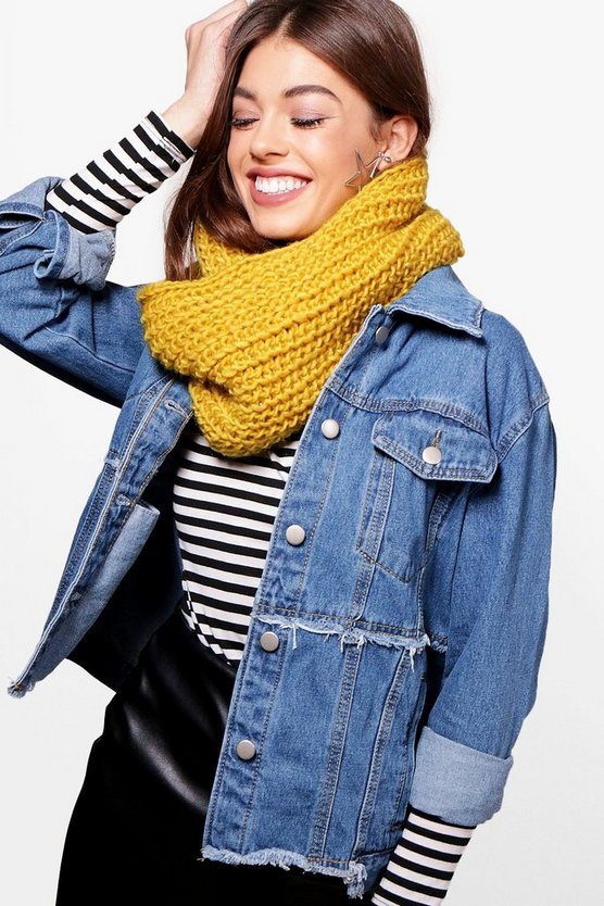 Amber Chunky Knitted Snood