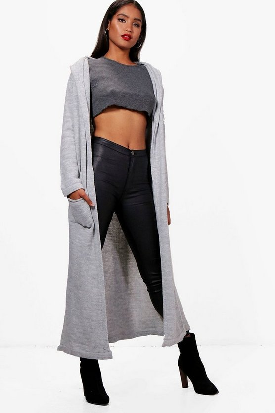 Sammy Hooded Maxi Cardigan