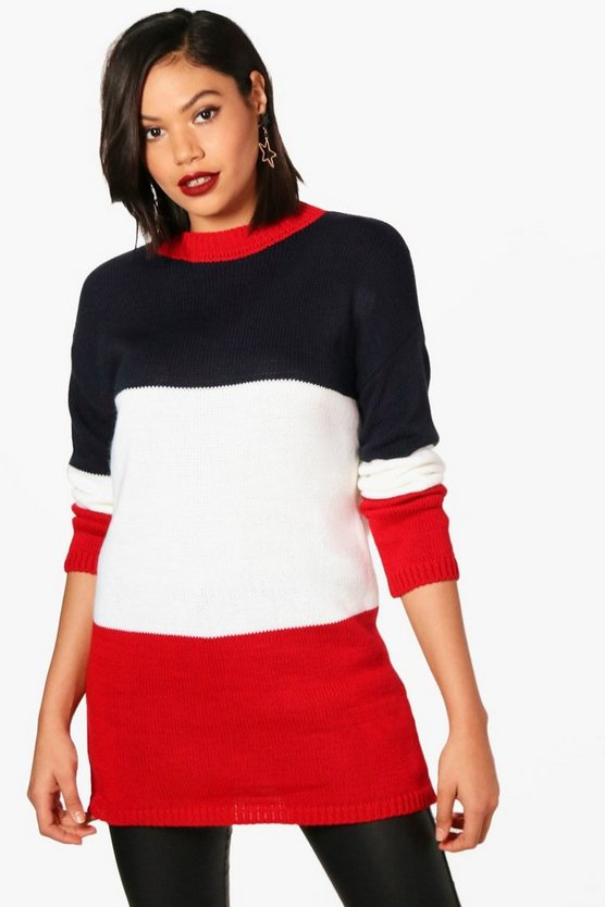 Orla Colour Block Knitted Jumper