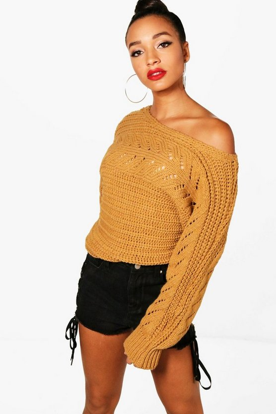 Abigail Batwing Chunky Knitted Jumper