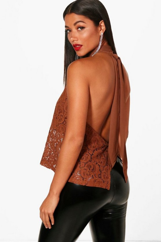 Jasmine Open Back Lace Cami