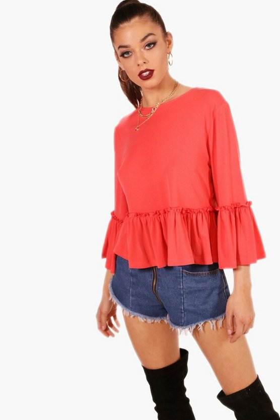 Ruffle Detail Trim Top
