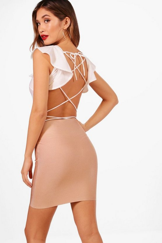 Ruffle Strappy Back Bodysuit