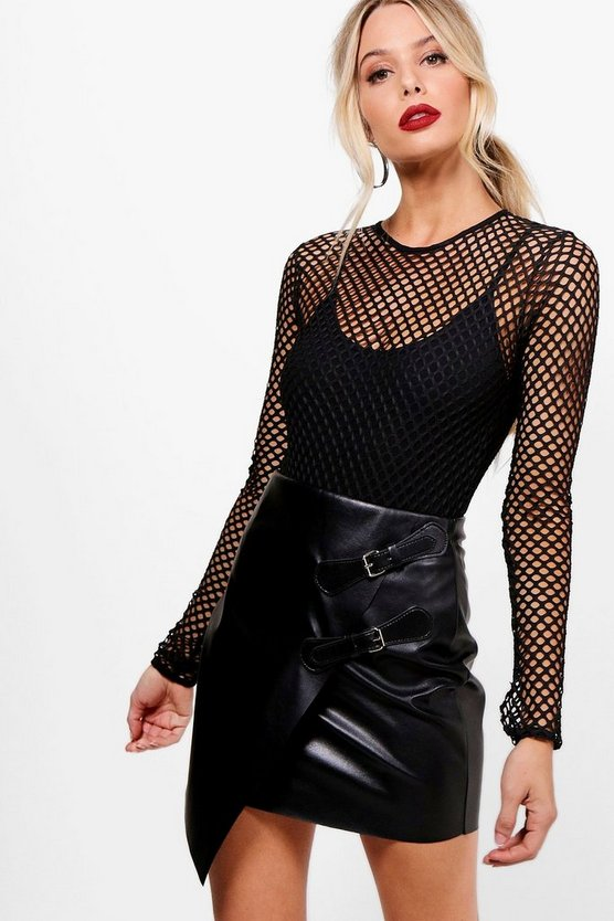Alex Fishnet Open Back Bodysuit