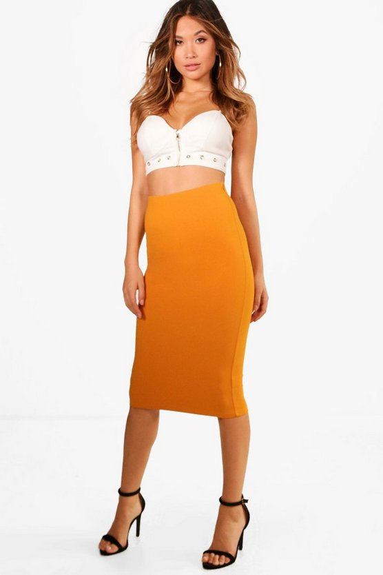 Alana Stretch Bodycon Midi Skirt