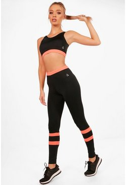 Black Fit High Waisted Legging & Sports Bra Set