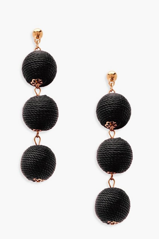 Lily Triple Ball Drop Earrings