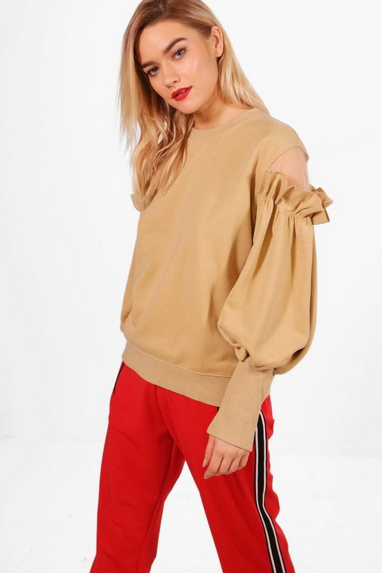 Lucy Rufle Cold Shoulder Sweatshirt