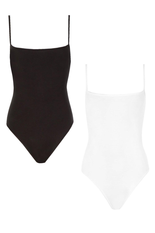 blackwhite Bodysuit Square Pack 2 Neck wqC04na