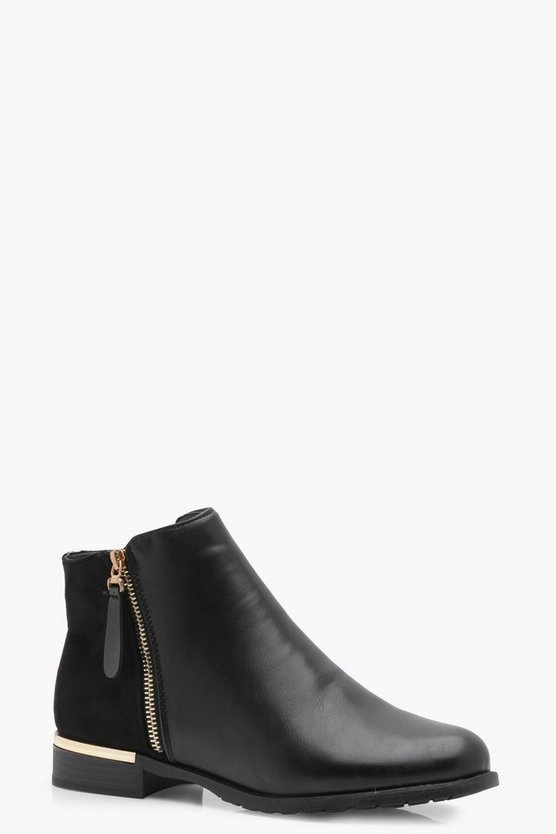 Clara Zip Trim Chelsea Boot