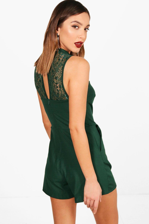 Boohoo-Steffie-Lace-Detail-Playsuit-para-Mujer