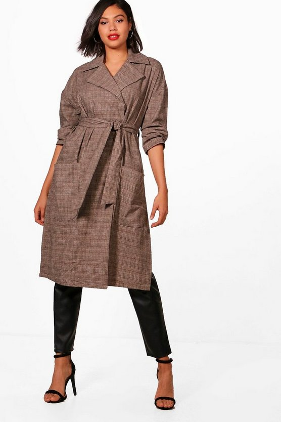 Hayley Prince Of Wales Checked Duster Coat