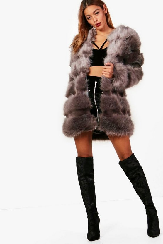 Grace Faux Fur Panelled Coat