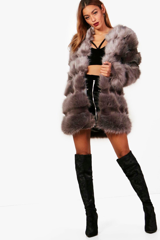 d9e6b253f450c Grace Faux Fur Panelled Coat. Hover to zoom