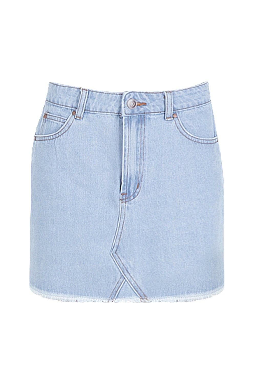 Skirt light Denim Skirt Mini Denim light Mini blue blue awp4YqZ
