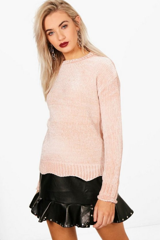 Molly Wavey Hem Chenille Jumper