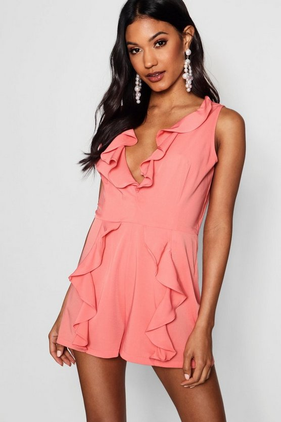 Ruffle Tailored Playsuit