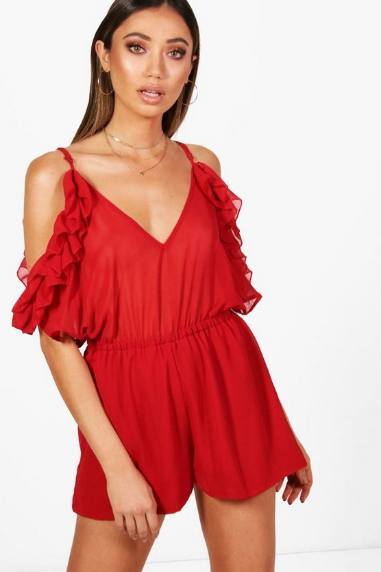 Cold Shoulder O Ring Playsuit
