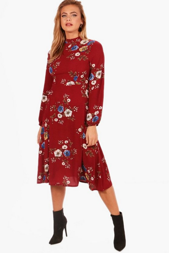 Morgan Floral Midi Skater Dress