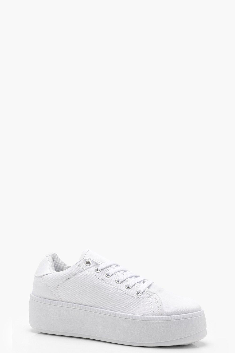 67daad5ccc3 Lace Up Platform Trainers. Hover to zoom