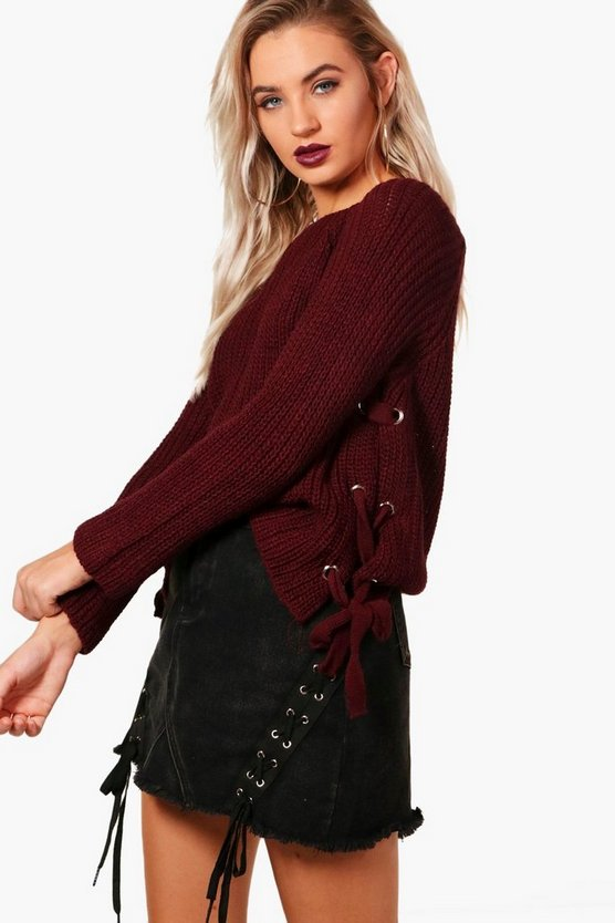 Sadie Eyelet Lace Up Jumper