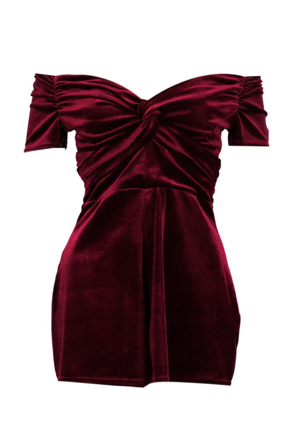Playsuit The Off The Shoulder wine Off cYw1wgqB8