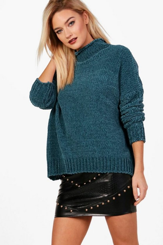 Pullover in Chenille-Optik
