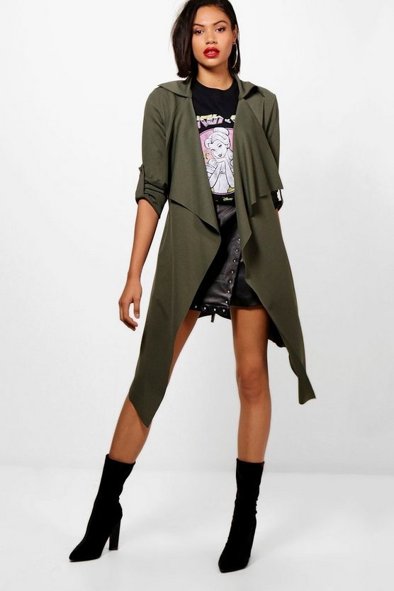 Mila Belted Waterfall Duster