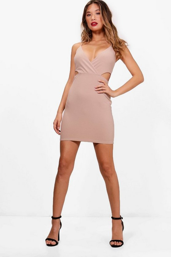 Strappy Cut Out Side Bodycon Dress