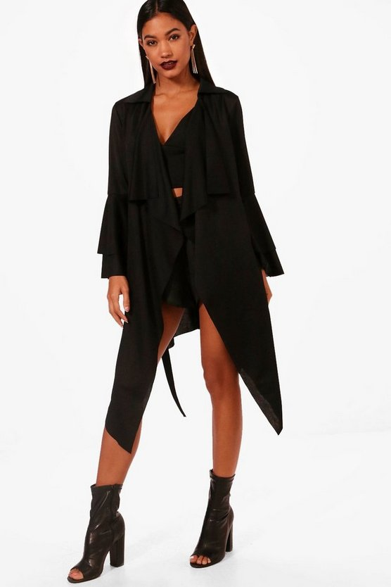 Flared Sleeve Waterfall Jacket