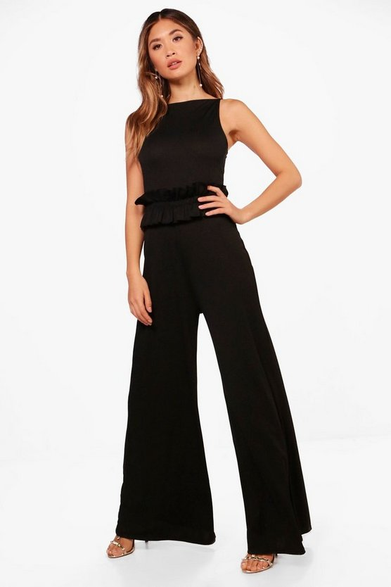 Salma Square Neck Wide Leg Culotte Jumpsuit