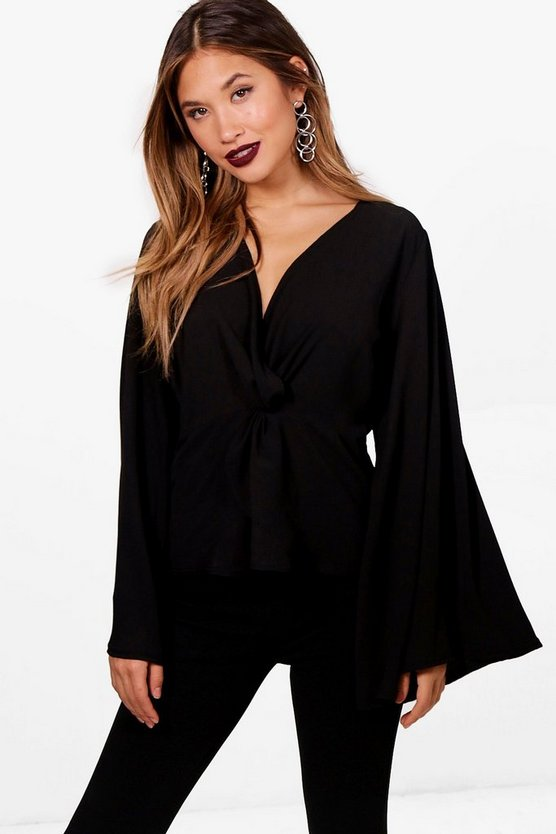 Stacey Knot Front Blouse