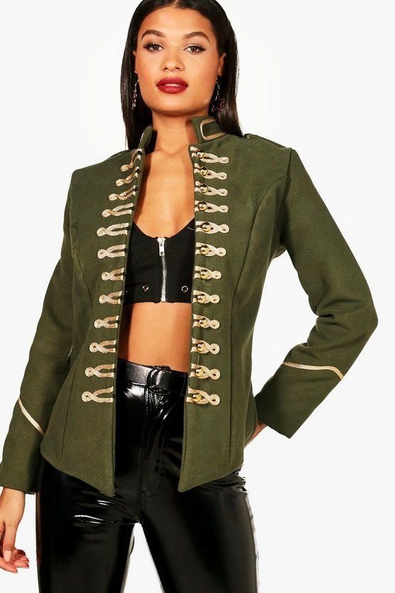 Womens Khaki Military Jacket