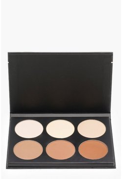 Womens Black Boohoo Contour Powder Define