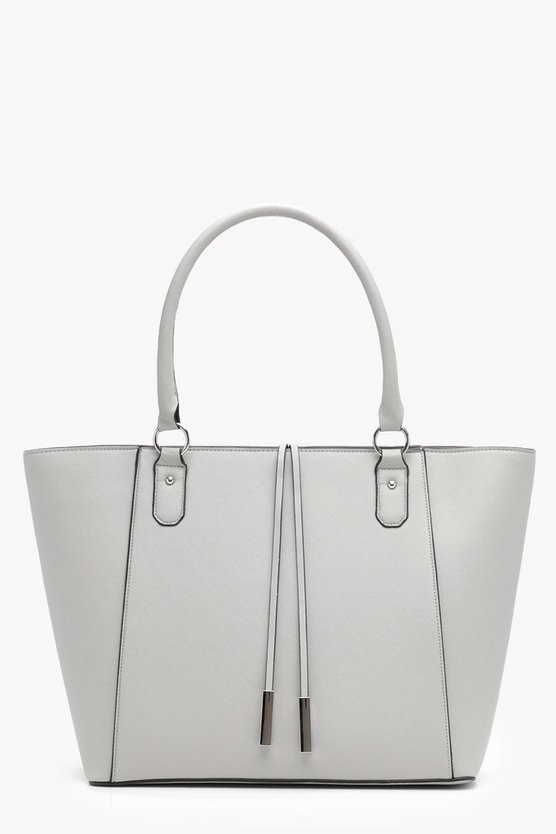 Emma Structured Crosshatch Tote Bag