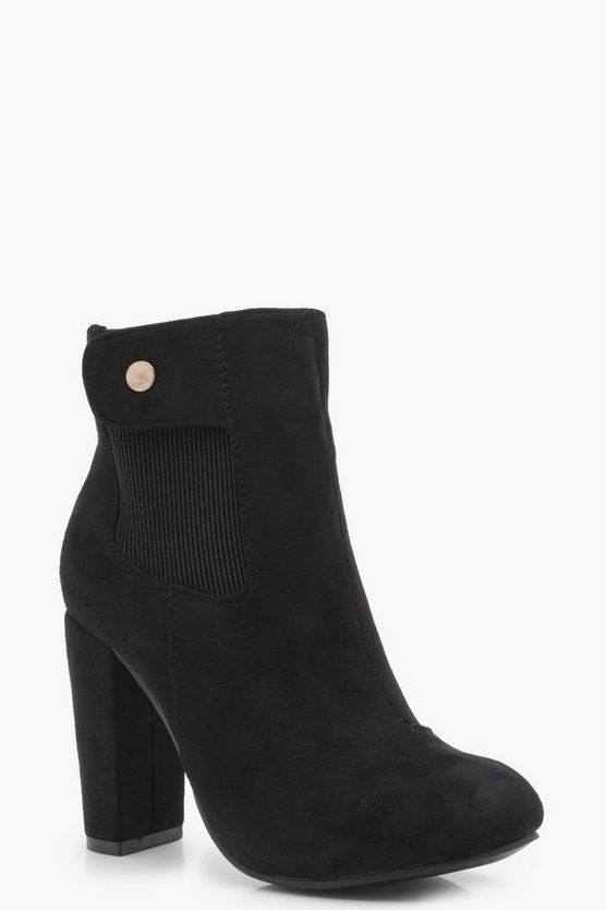 Isla Block Heel Sock Boot